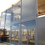Glass wall panels for temporary structures