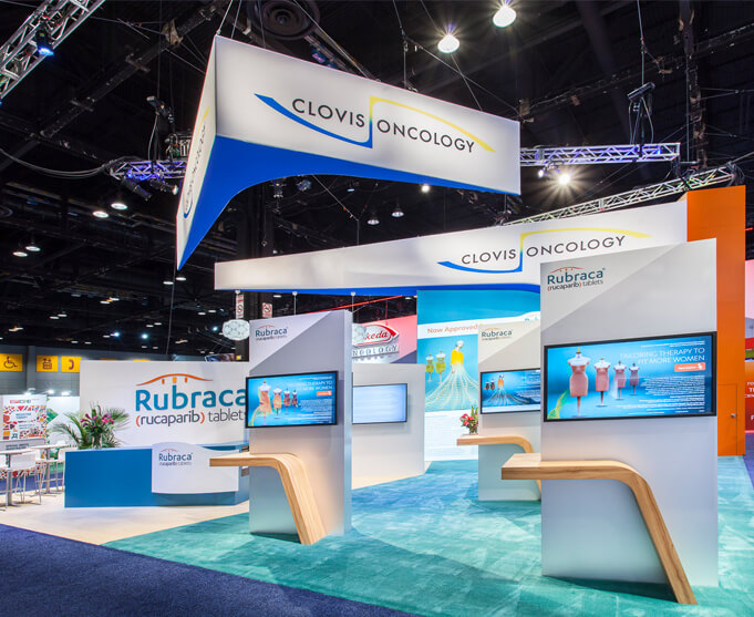 Custom exhibit for healthcare industry designed by Condit