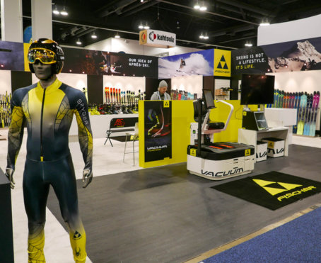 Outdoor Retailer Snow Show booth for Fischer Skis
