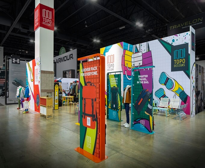 Topo Designs Outdoor Retailer booth